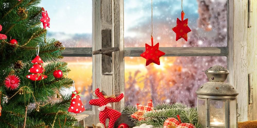 Weihnachtlich geschmückte Wohnung