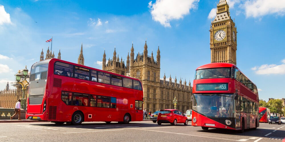 Rote Busse in London