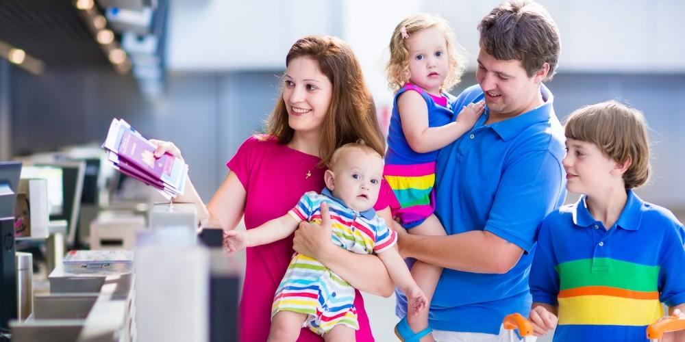 Familienurlaub mit dem Flugzeug
