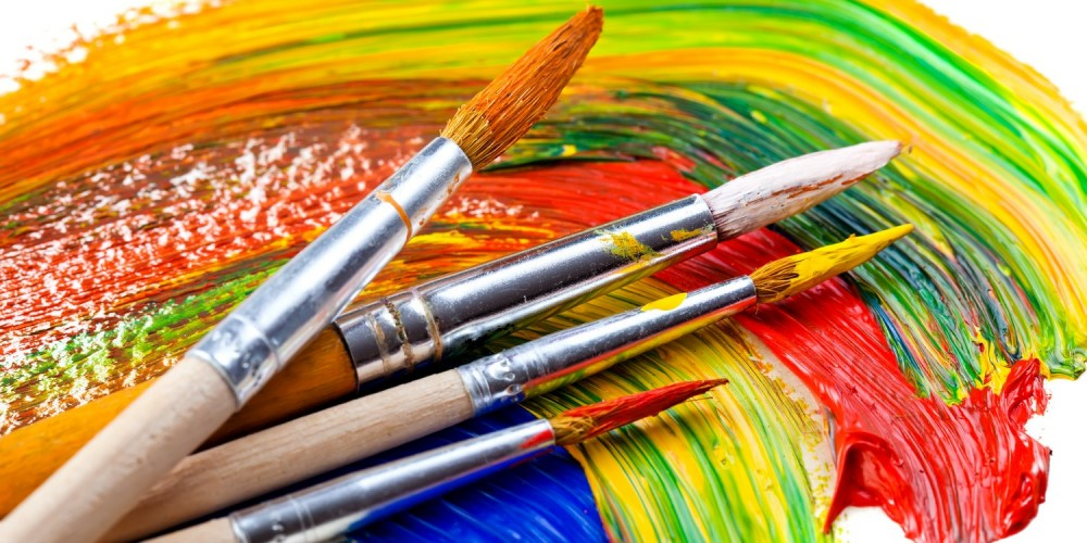 Pinsel und Farbe
