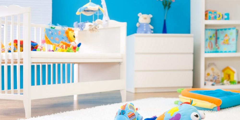Komplett eingerichtetes Babyzimmer