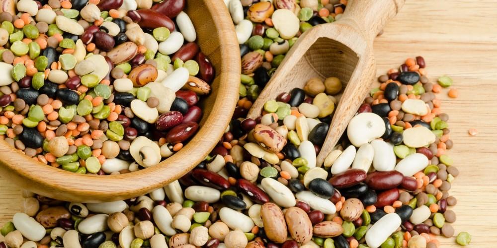 Hülsenfrüchte wie Linsen und Erbsen