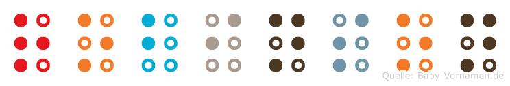 Robinson in Blindenschrift (Brailleschrift)