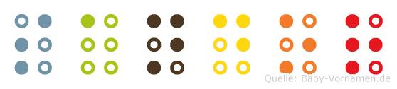 Sandor in Blindenschrift (Brailleschrift)