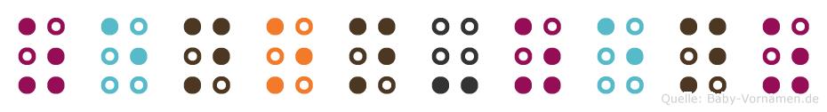 Zenon-Zenz in Blindenschrift (Brailleschrift)