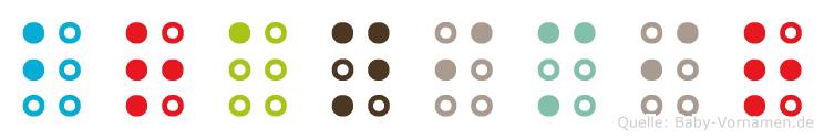 Branimir in Blindenschrift (Brailleschrift)