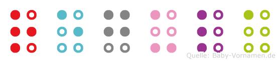 Regula in Blindenschrift (Brailleschrift)