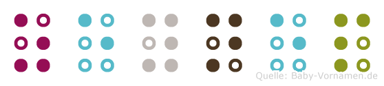 Zeynep in Blindenschrift (Brailleschrift)