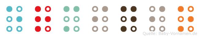 Erminio in Blindenschrift (Brailleschrift)