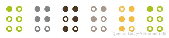 Agnita in Blindenschrift (Brailleschrift)