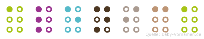 Alenica in Blindenschrift (Brailleschrift)