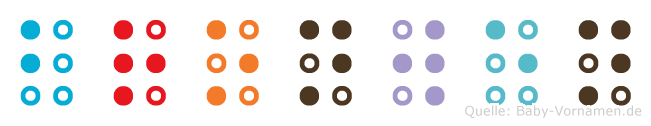 Bronwen in Blindenschrift (Brailleschrift)