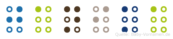 Janika in Blindenschrift (Brailleschrift)