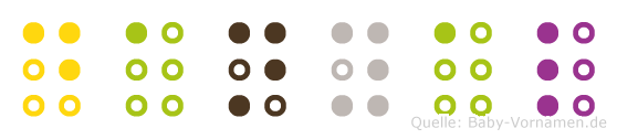 Danyal in Blindenschrift (Brailleschrift)