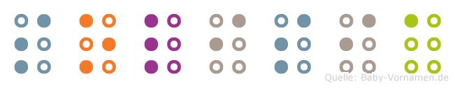 Solisia in Blindenschrift (Brailleschrift)