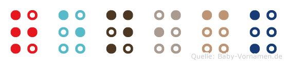 Renick in Blindenschrift (Brailleschrift)