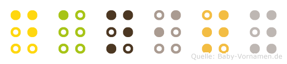 Danity in Blindenschrift (Brailleschrift)