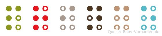 Prince in Blindenschrift (Brailleschrift)