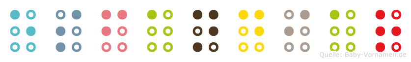 Esfandiar in Blindenschrift (Brailleschrift)