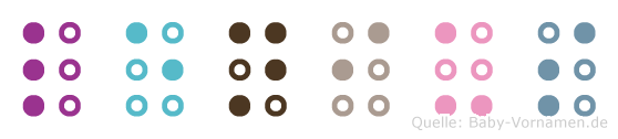 Lenius in Blindenschrift (Brailleschrift)