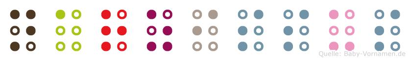 Narzissus in Blindenschrift (Brailleschrift)