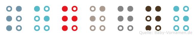 Serigne in Blindenschrift (Brailleschrift)