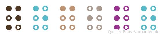 Necile in Blindenschrift (Brailleschrift)