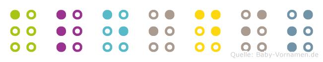 Aleidis in Blindenschrift (Brailleschrift)