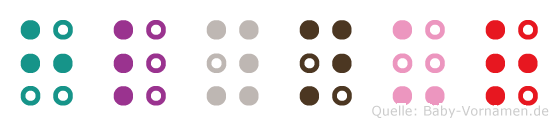 Hlynur in Blindenschrift (Brailleschrift)