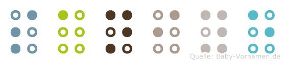 Saniye in Blindenschrift (Brailleschrift)
