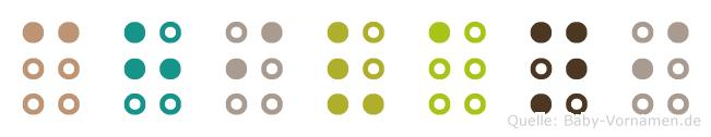 Chivani in Blindenschrift (Brailleschrift)