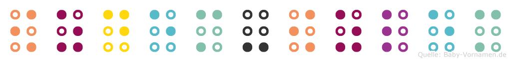 Özdem-Özlem in Blindenschrift (Brailleschrift)