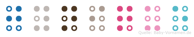 Jynique in Blindenschrift (Brailleschrift)