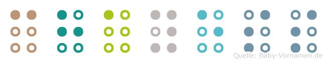 Chayess in Blindenschrift (Brailleschrift)