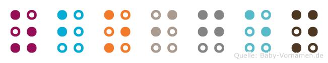 Zboigen in Blindenschrift (Brailleschrift)