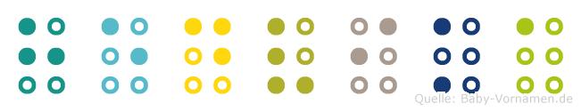 Hedvika in Blindenschrift (Brailleschrift)