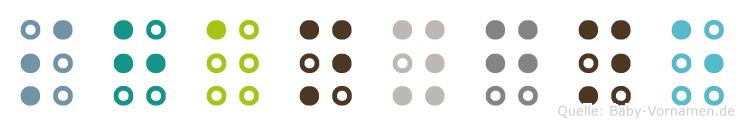 Shanygne in Blindenschrift (Brailleschrift)