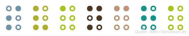 Svancha in Blindenschrift (Brailleschrift)