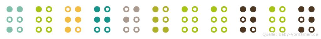 Mathivaanan in Blindenschrift (Brailleschrift)