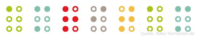Amritam in Blindenschrift (Brailleschrift)