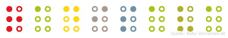Radisava in Blindenschrift (Brailleschrift)