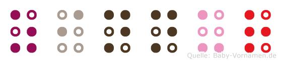 Zinnur in Blindenschrift (Brailleschrift)