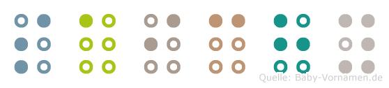 Saichy in Blindenschrift (Brailleschrift)