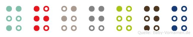 Mrigank in Blindenschrift (Brailleschrift)