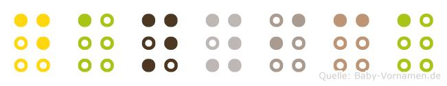 Danyica in Blindenschrift (Brailleschrift)