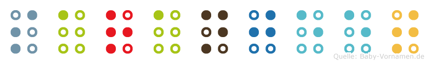 Saranjeet in Blindenschrift (Brailleschrift)