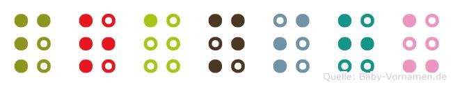 Pranshu in Blindenschrift (Brailleschrift)