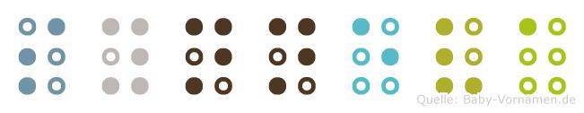 Synneva in Blindenschrift (Brailleschrift)