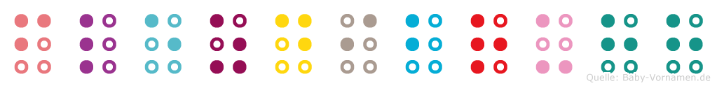 Flezdibruhh in Blindenschrift (Brailleschrift)