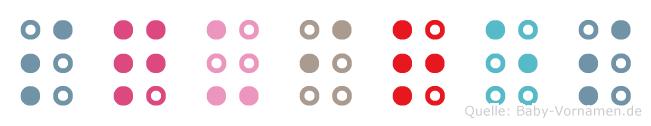 Squires in Blindenschrift (Brailleschrift)